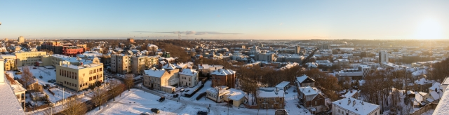 Kaunas Downtown from Lord Jesus Christ's Resurrection Basilica, Southbound, 2016-11-29